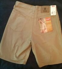 """New w/ $27 tag Wrangler Men's Shorts Size 30 Relaxed Fit NWT Khaki Brown Insm 9"""""""