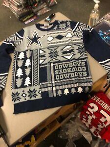 DALLAS COWBOYS UGLY CHRISTMAS Sweater MENS NAVY/GREY  Football