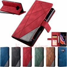 For Samsung S20 S7 S8 S9 S10 Plus Note 9 Magnetic Wallet Case Flip Leather Cover