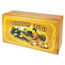 Lottospiel Bingospiel Klassischer Lotto Bingo Rus im Holz/Geschenkbox