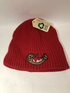 Simplicity Big Bear Eco Beaver  Beanie Hat Red - Unisex / One Size Fits Most