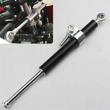 1X Universal Aluminum Steering Damper Rod 30mm Fork Clamp Motorcycle Black 330mm