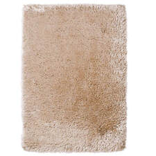 Beige Thick Shaggy 8cm Pile Rug Luxurious Hand Tufted Heavy Weight Montana Mat 150cm X 230cm