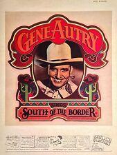 70's Gene Autry Radio Christmas TV Country Music vTg Orig t-shirt iron-on NOS