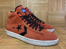 Vintage🔥 Converse PRO Leather Plus Mid Red Orange Suede Sz 10.5 Men's Shoes LE