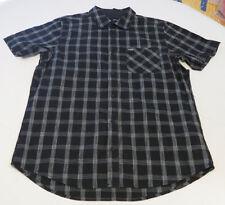 Hurley M Carlsbad SS Mens surf skate button up shirt 00A black MVS0004330 NEW