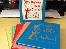 Dr Seuss Beginner Book Classics 5 Books. Commemorative Cloth Set With Slip Cover