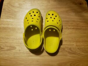 Crocs Yellow kids boys girls Clogs Size 12