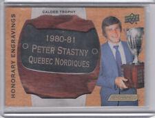 19/20 Engrained Honorary Engravings Calder Plate Peter Stastny Nordiques /100