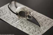 Raven Skull Christmas Gift Resin Bird Skull Necklace Gothic Faux Bone Jewelry