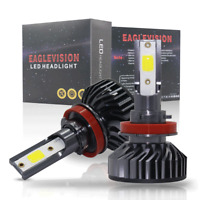 2X H11/H8/H9 360W LED Headlight Conversion Kit Hi/Low Beam 48000LM 6500K White