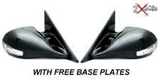PEUGEOT 406 LED BLACK M3 ELECTRIC DOOR PAIR WING MIRRORS INDICATORS BASE PLATES