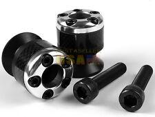 Silver 10mm Carbon fiber Swingarm Sliders Spools For Kawasaki ZX Ninja VERSYS