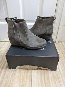 Sorel Women's Evie Grey Booties Size US 8 EU 39 NEW