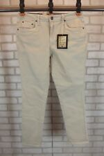 NEW $54 Earl Womens Ankle Jeans Sz 8 Beige Tan  Embellished Ankle Cuff NWT Khaki