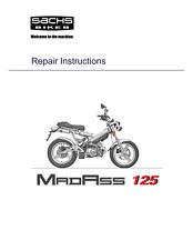 SACHS MADASS 125 REPAIR SERVICE WORKSHOP MANUAL REPRINTED COMB BOUND
