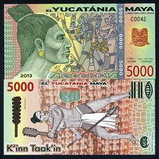 Maya, 5000 (5,000) Mil Soles De Oro, 2013, Polymer, UNC > Warrior