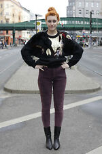 Figro Jeans Damen Hose lila hot purple 90er True VINTAGE 90s women pants slacks