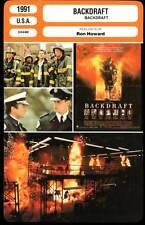 BACKDRAFT - Russell,Baldwin,De Niro,Sutherland, Howard (Fiche Cinéma) 1991