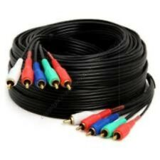 50ft long RGB+LR Component Video+Audio Cable/Cord/Wire 5*RCA HDTV/LCD/TV/DVD {IS