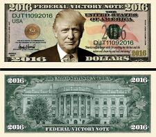 Trump Victory 2016 Dollar Bill Fake Play Funny Money Novelty Note + FREE SLEEVE