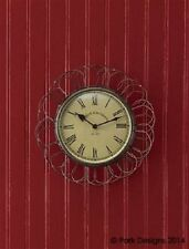 "Country Wire Clock Egg Basket Vintage Style Wall Clock 9.5"" Dia. by Park Designs"