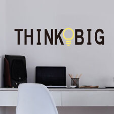 Think Big Wall Quote Decal Sticker Vinyl Art Lettering Graphic  Home Decor Mural