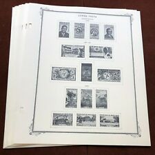 UPPER VOLTA 1959-63 SCOTT SPECIALTY Stamp Album Pages, Complete + 7 Stamps
