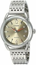 Citizen Eco-Drive Women's Brown Dial Orange Hands Calendar 34mm Watch FE6080-54X