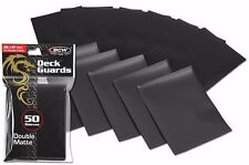 400 Black Matte Deck Guard Card Sleeves Protector Ultra High Quality