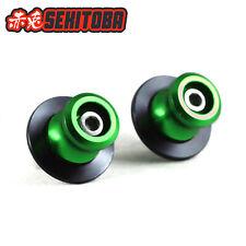Sekitoba CNC Swingarm Spools Sliders Paddock Stand Bobbins 8mm Green