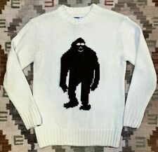 AIRBLASTER CO. sasquatch SASSY acrylic SWEATER vegan KNIT sz M pacific NW yeti