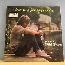 JACK JONES Write Me A Love Song, Charlie 1974 UK Vinyl LP EXCELLENT CONDITION