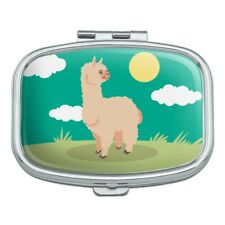 Cute and Fluffy Alpaca Rectangle Pill Case Trinket Gift Box