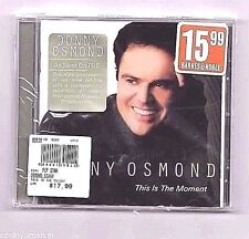 """DONNY OSMOND - This is the Moment (Decca 2001) """"Not While I'm Around"""" Unopened"""