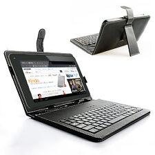 Universal 7in Black PU Leather USB Keyboard Case For indigi SVP TabletPC Phablet