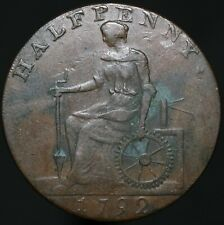 More details for 1792 | macclesfield charles roe copper works half-penny token | km coins