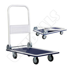 Folding Trolley Cart Platform Flat Hand 150Kg Heavy Duty  Barrow Sack Comfort