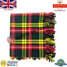 Hs Homme Écossais Kilt Mouche Plaid Buchanan Acrylique Laine 122cm X P Fring