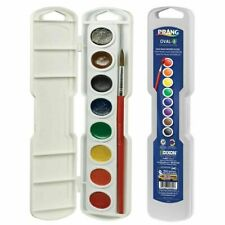 2 Prang Semi-moist Watercolors Paints 8-color Oval Pan Set Water Color