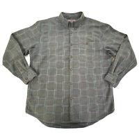 The Territory Ahead Mens Dark Gray Long Sleeve Button Down Shirt XL