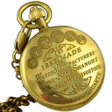 Cadeau de luxe Antique Vintage cuivre chiffre romain méantique Pocket Watch Men