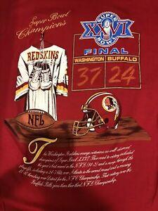 Washington Redskins Vs Buffalo Bills Vintage Super Bowl XXVI T Shirt Funny Gift