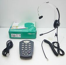 AddCom ADD-T10 Feature Headset Tone Dialing Desk Phone for Office & Call Centers