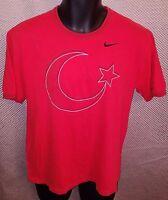 Turkey National Soccer Team Red Stitched Nike T-Shirt - Mens Medium/Small