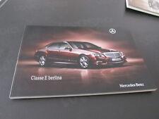 MERCEDES BENZ CLASSE E berlina prospetto brochure 83 pagine ITALIANO