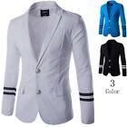 New Men's Solid Coat Casual Slim Fit Suit Jacket Outwear Business Blazer Tops