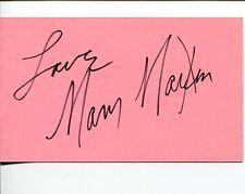 Mary Martin Peter Pan Star Broadway Tony Award Winner Signed Autograph