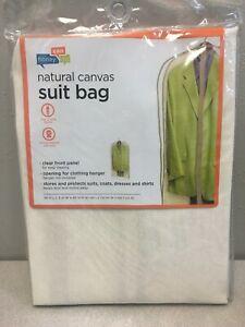 Honey Can Do SFT-01257 42 in. H x 24 in. W x 3 in. L Canvas Hanging Suit Bag