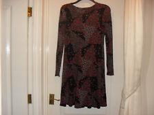 M & S Black/Multi Floral Dress - Size 12 - Worn once